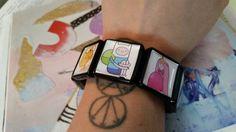 Stretch Tile Adventure Time Bracelet by KingdomoftheGeek on Etsy