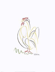 ... Rooster by Pablo Picasso. Picasso line drawings...
