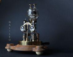 Brass Wood, Copper And Brass, Steampunk Desk, Glass Domes, Lamp Design, Desk Lamp, Bulb, Change, Bright