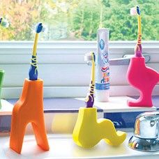animal toothbrush holders