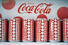 Coca-Cola X Yayoi Kusama, students appropriate artist style onto a drink can.