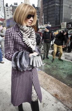 Anna Wintour #NYFW Street Style Day 3 / Credit: Raydene Salinas / HPMG