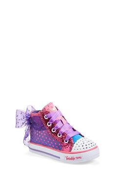 SKECHERS 'Twinkle Toes Shuffles - Pixie Bunch' High Top Sneaker (Walker & Toddler) available at #Nordstrom. OMG how cute are these?