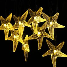 Solar Outdoor String Lights, GDEALER 30LED 20ft Starfish Solar Powered String Lights Christmas Decorative Lighting for Indoor Outdoor Garden Home Party Wedding Holiday Decorations Warm White