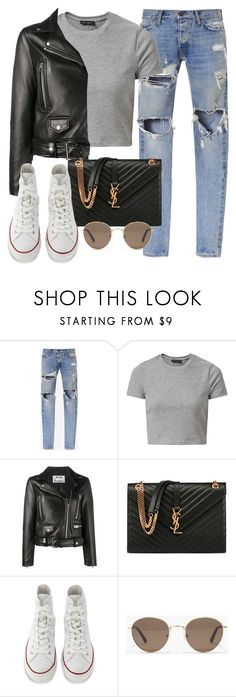 """Untitled #3082"" by camilae97 ❤ liked on Polyvore featuring Gosha Rubchinskiy, New Look, Acne Studios, Yves Saint Laurent, Converse and Madewell"