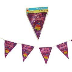 12.5 Happy Birthday Hologram Triangular Banner 12.5 X 11H/Case of 72