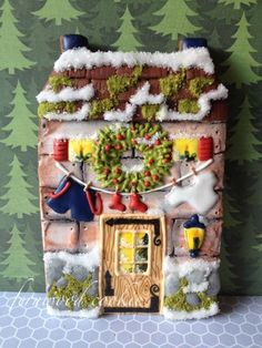 Gingerbread house - Fernwood Cookie The Cookie Architect's Gingervillaggio…