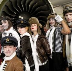 Aviation themed mime artist and entertainers for hire in London and the UK