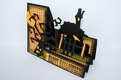 "Stuck on U Sketches Design Team Post - ""Haunted Mansion"" Stair Step Card |Faith Abigail Designs"
