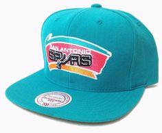 Unworn Mitchell-and-Ness SAN ANTONIO SPURS SNAPBACK HAT Teal Vtg-Logo Men/Women #MitchellNess #BaseballCap