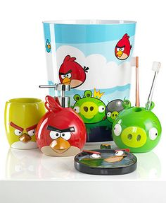 Jay Franco Bath Accessories Angry Birds Burst Collection