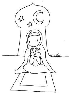 COLORIAGE priere - Bébé Muslim, l'islam pour les enfants musulmans