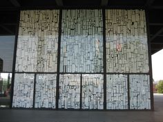 installation made up of styrofoam package inserts, modern art museum, Berlin, 2006