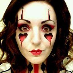 Jester Halloween makeup