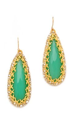 Green + Gold Tear Drops