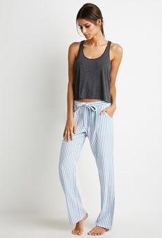 Drawstring Striped PJ Pants | Forever 21 - 2000173211