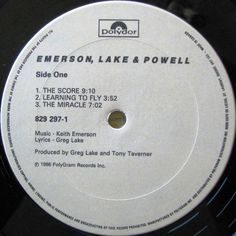Emerson, Lake & Powell - Emerson, Lake & Powell CANADA 1986 Lp mint-- w/LyrInner