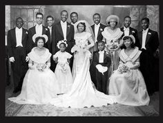 A Lovely Vintage Group Wedding Photo.