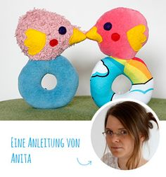 DIY-Anleitung: Vogelrassel - Free pattern and step by step Photo tutorial - Bildanleitung und gratis Schnittvorlage