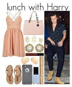 """""""Untitled #797"""" by fatima-styles102 ❤ liked on Polyvore featuring Havaianas, MICHAEL Michael Kors, Charlotte Russe, Kendra Scott, Lord & Berry, Stila, OtterBox, Ray-Ban, women's clothing and women"""