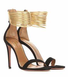 e04bd200e123da Spin Me Around 105 suede and metallic leather sandals