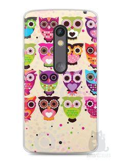 Capa Capinha Moto X Play Corujas Coloridas - SmartCases - Acessórios para celulares e tablets :)