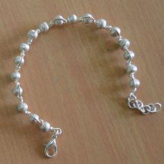 Silver plated bead bracelet,Woman And Man copper Jewelry & bead 1 pc bracelet  #Handmade
