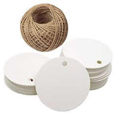 Brown Tag,Kraft Paper Gift Tag with 100 Feet Jute Twine Round Shaped cm Blank Hang Tags for Craft Projects, Xmas Gifts Jute Twine, Kraft Paper, Amazon Art, Hang Tags, Sewing Stores, Xmas Gifts, Gift Tags, Sewing Crafts, Craft Projects
