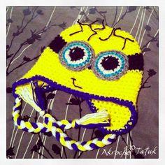 Tuque minion crochet Minion crochet hat