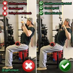 Exercise Instructions Stand in front of a lat pull down apparatus and grasp the bar using an overhand grip at least one foot wider than your shoulders on each side. Sit down with your feet…Mehr Fitness Tracker, Fitness Goals, Fitness Tips, Fitness Motivation, Health Fitness, Gym Tips, Gym Workout Tips, Workout Fitness, Best Bodybuilding Program