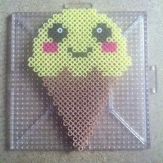 Kawaii ice cream perler beads by andekandi