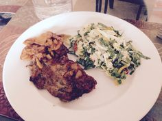 Pork chop & salad