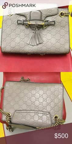6296c377bf1 Authentic Gucci purse Grey leather authentic Gucci shoulder bag. Great  condition had to update serial