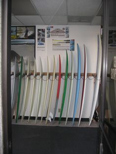 Front Showroom for Degree33 Surfboards. Come on in!