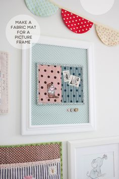 Nana Company: How to make a fabric mat for a picture from