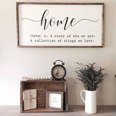 Home definition sign.