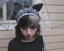 Mon voisin Totoro - main Crochet Totoro oreille chauffe-bandeau