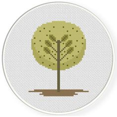 FREE for Oct 31st 2016 Only - Simple Tree Cross Stitch Pattern