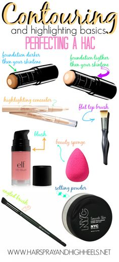 Contouring Basics: Complete with tools, products, and diagram!