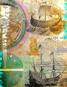 art journal collage sheets by karen michel