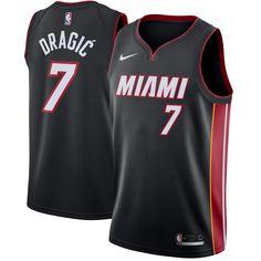 6acbc3fe3ad43 Goran Dragic Miami Heat Nike Swingman Jersey Black - Icon Edition
