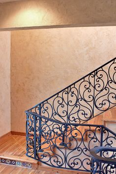 Imago Dei, Stairwell Wall Treatment: American Clay Plaster Finish.