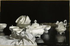 Tea Cups, 1921 by Stanley Cursiter (1887 - 1976)
