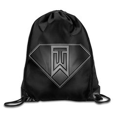 Tiger Woods Super Logo Drawstring Backpack Outdoor Bag * Want additional info? Click on the image.