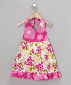 Take a look at this Pink Lily Halter Dress - Toddler & Girls by Beary Basics on #zulily today!