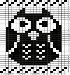Tricksy Knitter Charts: Owl by Ashley W