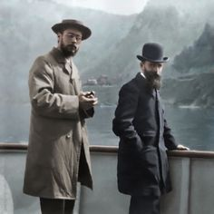 Pierre Bonnard and Edouard Vuillard during a trip to Italy in 1899, photographed by Ker-Xavier Roussel. Photo restored and colorized by painters-in-color