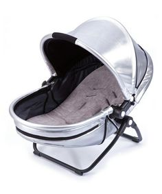 Love this Silver & Black Monochrome Yoga Newborn Nest Bassinet by bloom baby on #zulily! #zulilyfinds