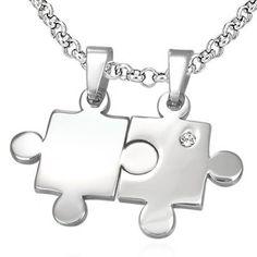 Přívěsky pro dva - puzzle s kamínkem Thing 1, Dog Tags, Bottle Opener, Dog Tag Necklace, Jewelery, Puzzle, Accessories, Jewlery, Jewels