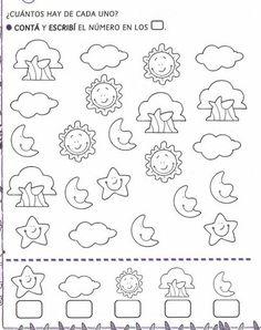 Risultati immagini per trabajar sumas con niños Counting Activities, Educational Activities, Toddler Activities, Preschool At Home, Kindergarten Worksheets, Preschool Activities, Visual Perception Activities, Math Sheets, Math Numbers